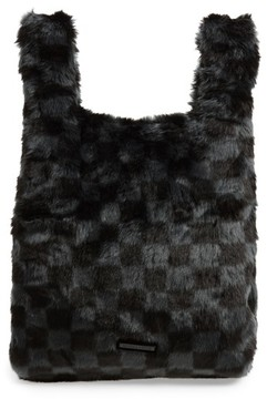 KENDALL + KYLIE Michelle Faux Fur Shopper - Black