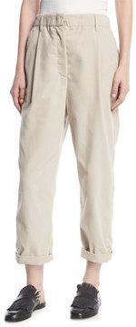 Brunello Cucinelli Corduroy Single-Pleat Pants