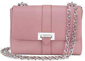 Aspinal of London Large Lottie Bag In Smooth Dusky Pink