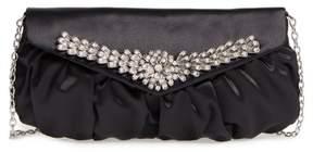 Menbur Caracas Crystal Embellished Clutch - Black