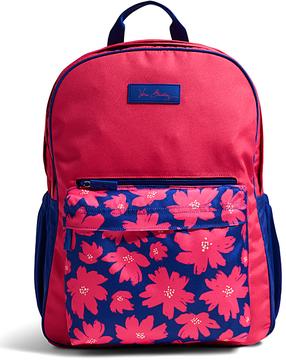 Vera Bradley Art Poppies Large Color Block Backpack - ART - STYLE
