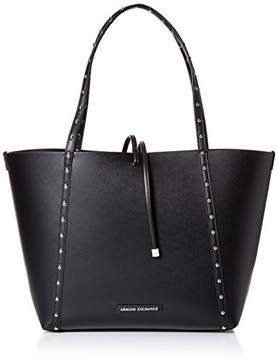 Armani Exchange A X Studded Reversible Shopping Tote Bag