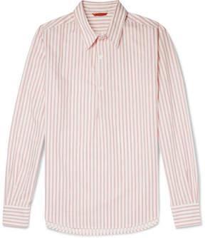Barena Slim-Fit Striped Cotton-Poplin Half-Placket Shirt