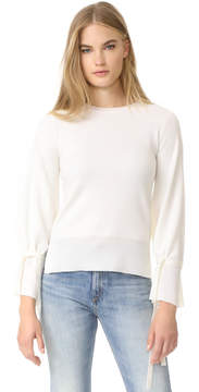ADAM by Adam Lippes Bell Sleeve Crew Neck Sweater