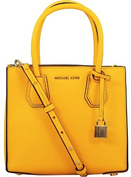 Michael Kors Women's Medium Mercer Leather Messenger Bag - Sunflower - SUNFLOWER - STYLE