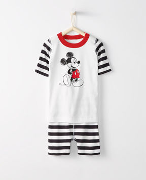 Hanna Andersson Disney Mickey Mouse Short John Pajamas In Organic Cotton
