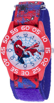 Marvel Spiderman Boys Blue Strap Watch-Wma000190