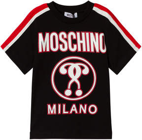 Moschino Black Milano Logo Tee