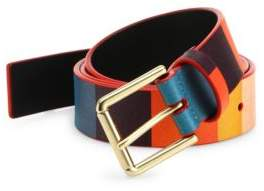 Paul Smith Multi-Colored Leather Belt