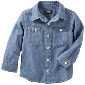 Osh Kosh Toddler Boy Denim Button Down Shirt