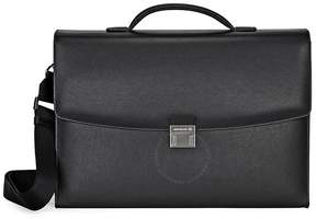 Montblanc Sartorial Single Gusset Black Leather Briefcase