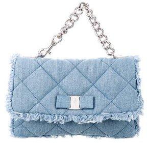 Salvatore Ferragamo Gelly Quilted Denim Bag