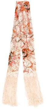 Valentino Sequin Embellished Fringe Scarf