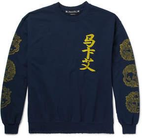 SASQUATCHfabrix. Distressed Printed Fleece-Back Cotton-Blend Jersey Sweatshirt