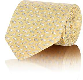 Salvatore Ferragamo Men's Bird-Print Silk Necktie