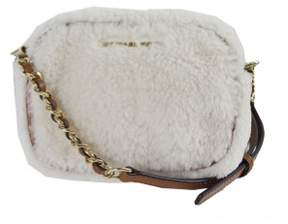 Michael Kors Michael White Shearling Mini Crossbody Bag OS