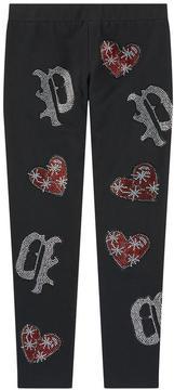 Philipp Plein Jersey leggings with rhinestones