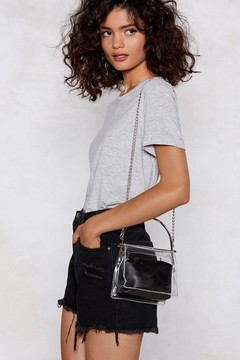 Nasty Gal WANT Clear As Day Shoulder Bag