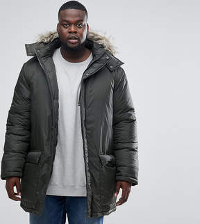French Connection PLUS Parka with Faux Fur Hood