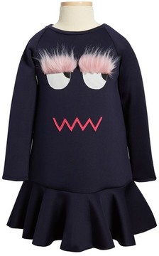 Halabaloo Toddler Girl's Monster Scuba Dress