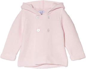Absorba Pink Knit Cardigan with Tassel Hood