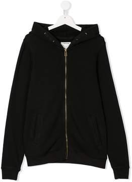 Zadig & Voltaire Kids TEEN back-print zip-up hoodie