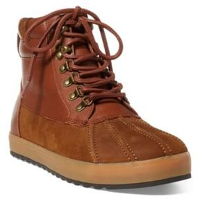 Ralph Lauren Regnald Nubuck Sneaker Boot New Snuff/Deep Saddle Tan 10