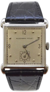 Audemars Piguet White Gold with Silver Dial Vintage 28mm Mens Watch
