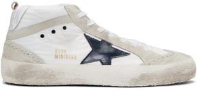 Golden Goose Deluxe Brand White Nylon Mid Star Sneakers