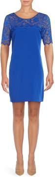 Badgley Mischka Women's Tia Illusion Neck Dress