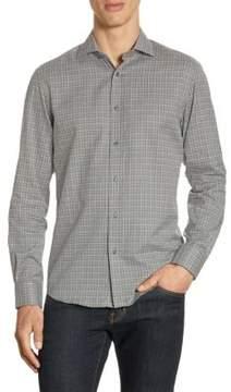 Ralph Lauren Purple Label Slim-Fit Windowpane Button-Down Shirt