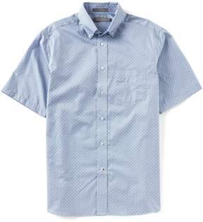 Daniel Cremieux Signature Geo Circle Short-Sleeve Woven Shirt