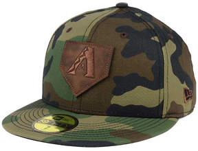 New Era Arizona Diamondbacks The Logo of Leather 59FIFTY Fitted Cap