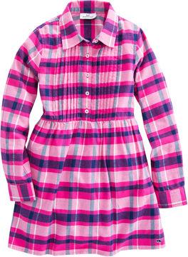 Vineyard Vines Girls Plaid Flannel Shirt Dress