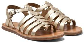 Pom D'Api Pom Dapi Gold Plagette Strap Buckled Sandals