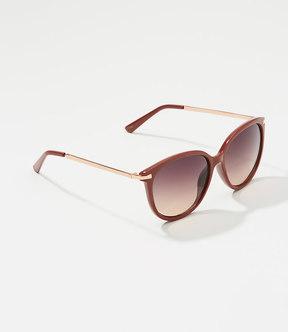 LOFT Metallic Arm Cateye Sunglasses