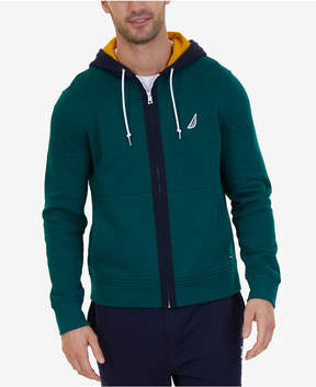 Nautica Men's Colorblockeded Zip Hoodie, A Macy's Exclusive Style