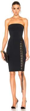 Alexandre Vauthier Lace Up Detail Knit Dress