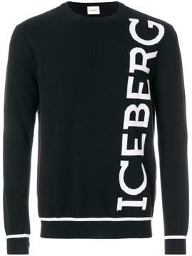 Iceberg logo knit jumper
