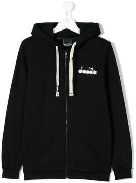 Diadora Junior branded zip hoodie