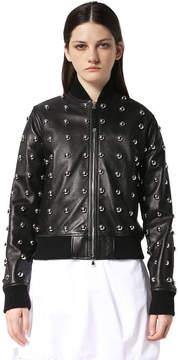 Diesel Black Gold Diesel Leather jackets BGGEC - Black - 36