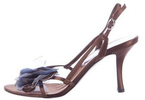 Christian Dior Floral-Accented Slingback Sandals