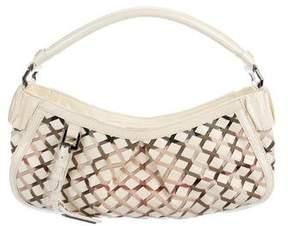Burberry Woven Nova Check Shoulder Bag - WHITE - STYLE