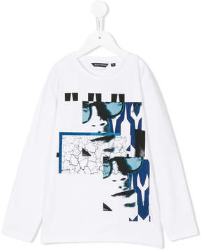 Antony Morato repeated prints longsleeved T-shirt