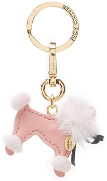 Juicy Couture Poodle Puff Leather Key Fob