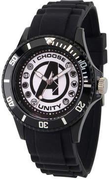 Marvel Classic Mens Black Strap Watch-Wma000071