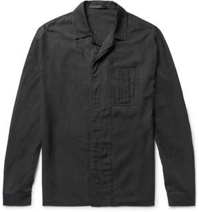 Haider Ackermann Slim-Fit Washed Cotton-Blend Twill Overshirt