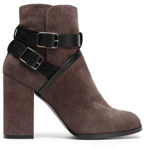 Castaner Buckled Suede Ankle Boots