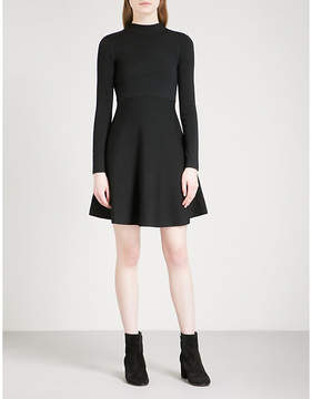 Mo&Co. Fit-and-flare wool-blend dress