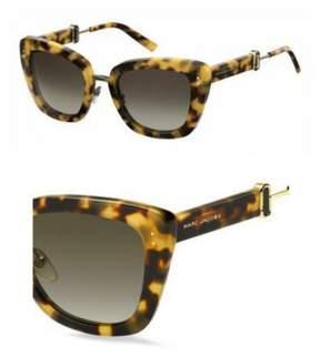 Marc Jacobs Women's Marc131s Cateye Sunglasses, Spotted Havana/Brown Gradient, 53 mm